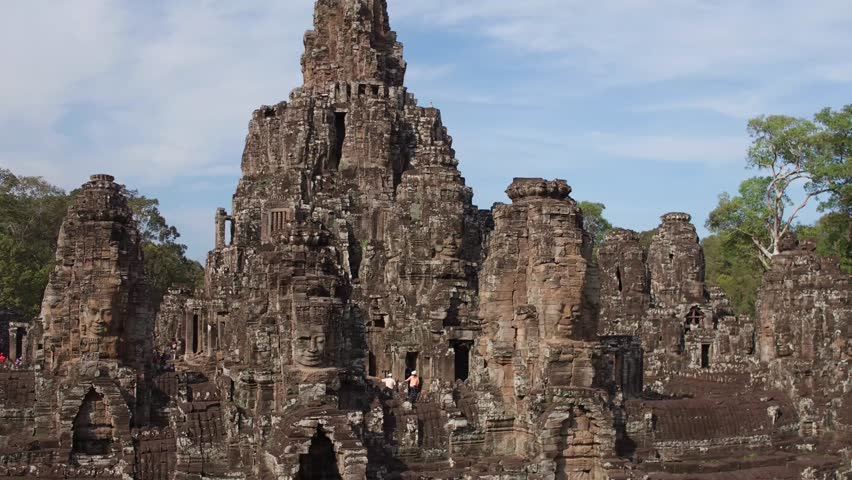 fly over bayon temple 2