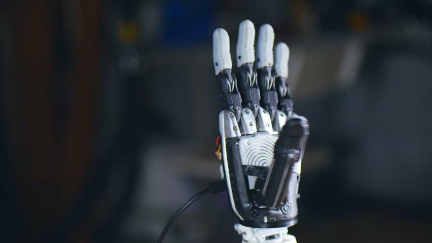 Futuristic technology. Bionic arm printed on 3D printer. #24414179