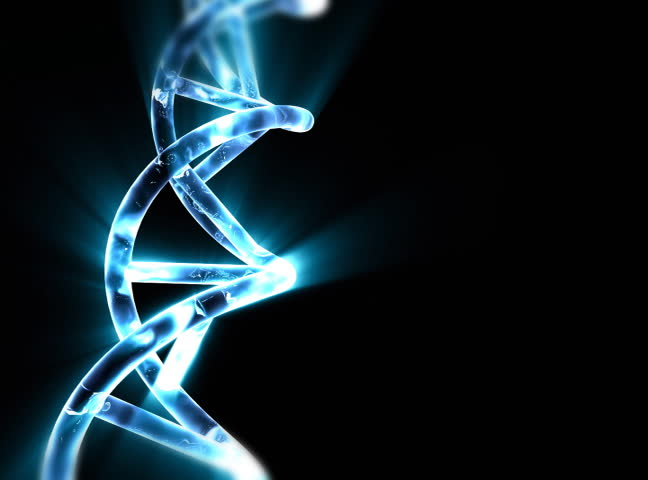 DNA string with blue light beams | Shutterstock HD Video #244222