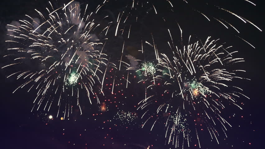 High quality video of fireworks show in 4K | Shutterstock HD Video #24436241