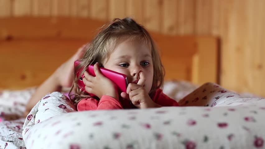 Little Girl Lies On the: Video de stock (totalmente libre de regalías) 24442655   Shutterstock