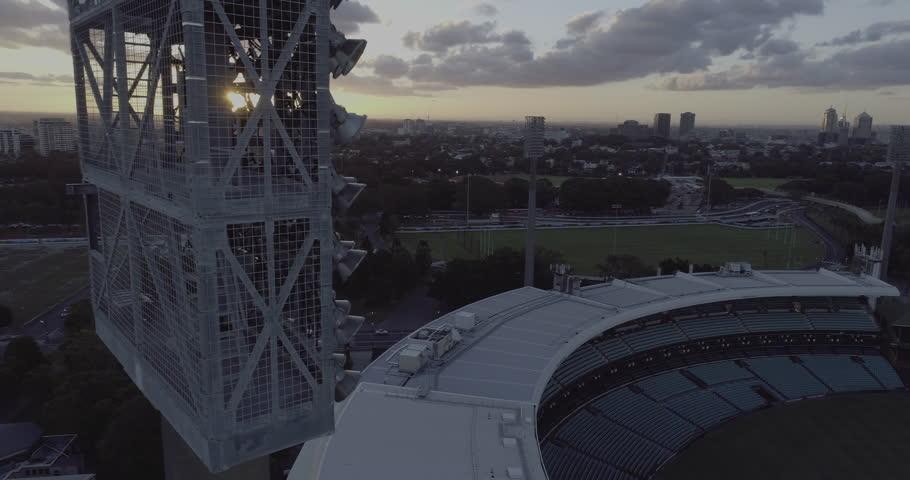 Aerial view of Sydney Cricket Ground and Sydney Football Stadium SCG SFS