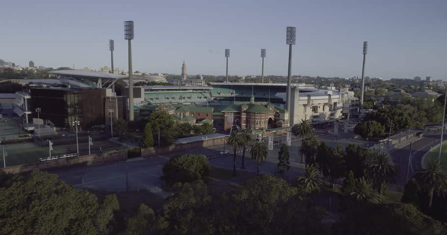 Aerial view of Sydney Cricket Ground and Sydney Football Stadium SCG SFS