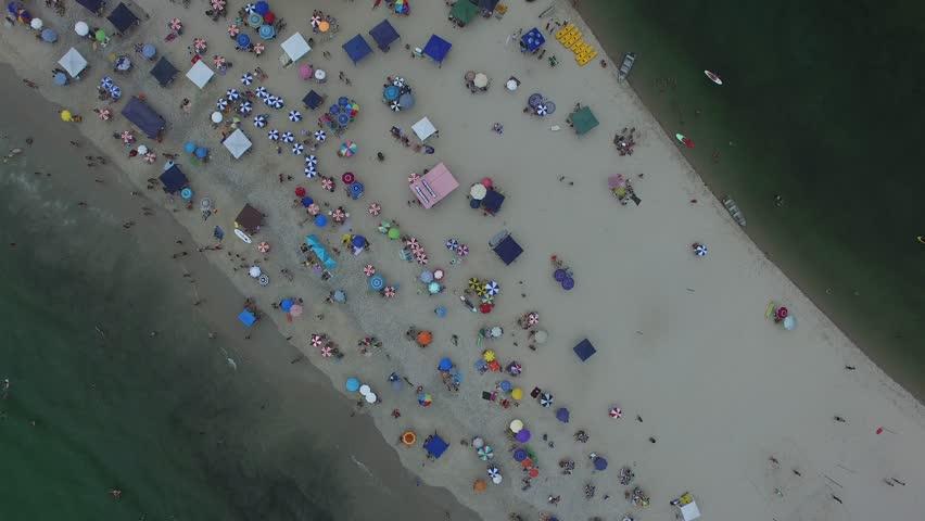 Aerial View of Barra do Una Beach, Sao Paulo, Brazil | Shutterstock HD Video #24471980