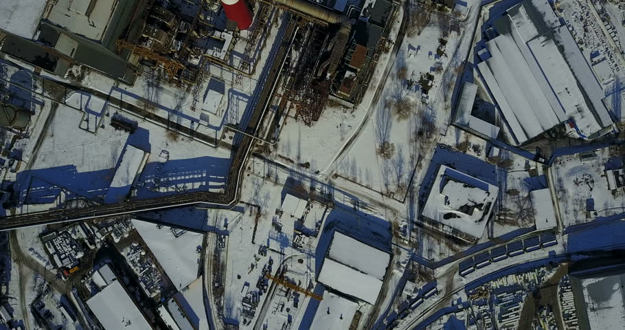 Industrial landscape in the metropolis. The plant with pipes and smoke. | Shutterstock HD Video #24504707