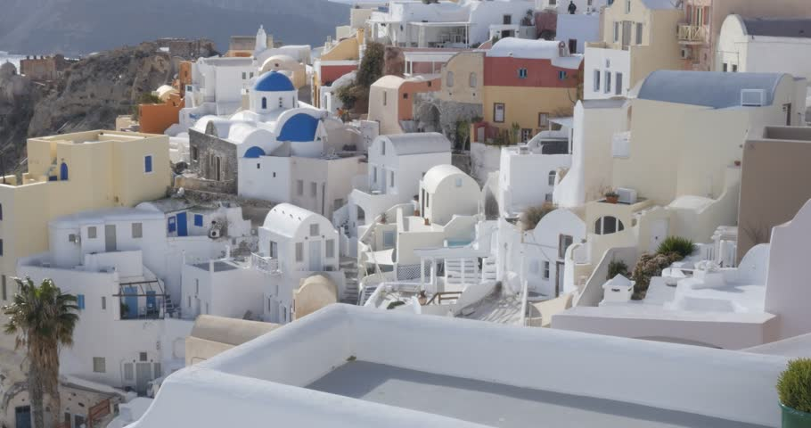 Santorini Greece - Oia white-painted houses of the Greek Islands Cyclades | Shutterstock HD Video #24582032