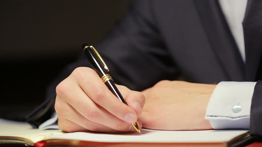 Mans Hand Writing Pen Paperwork. Stock Video Video (100% Royalty-free) 24582344 | Shutterstock
