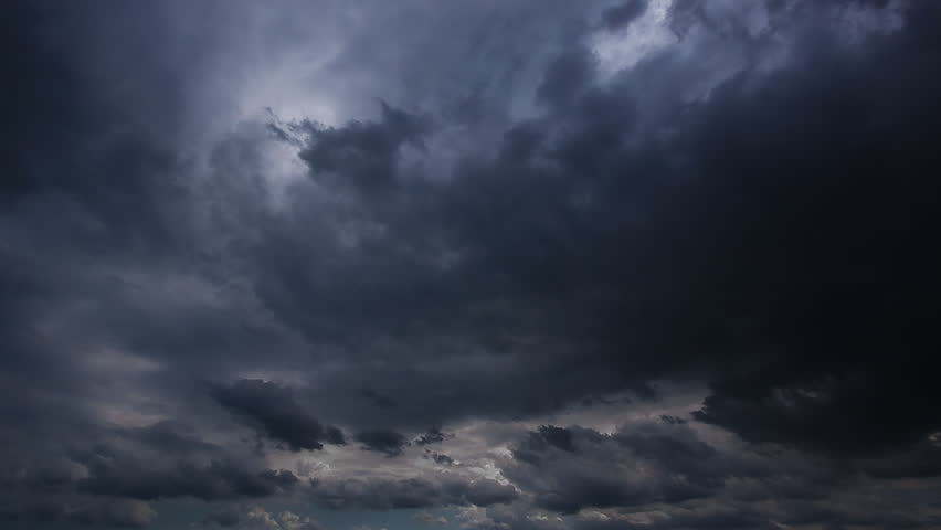 Timelapse of Clouds and Stormy Night. 1920x1080. Time lapse hurricane storm #246010