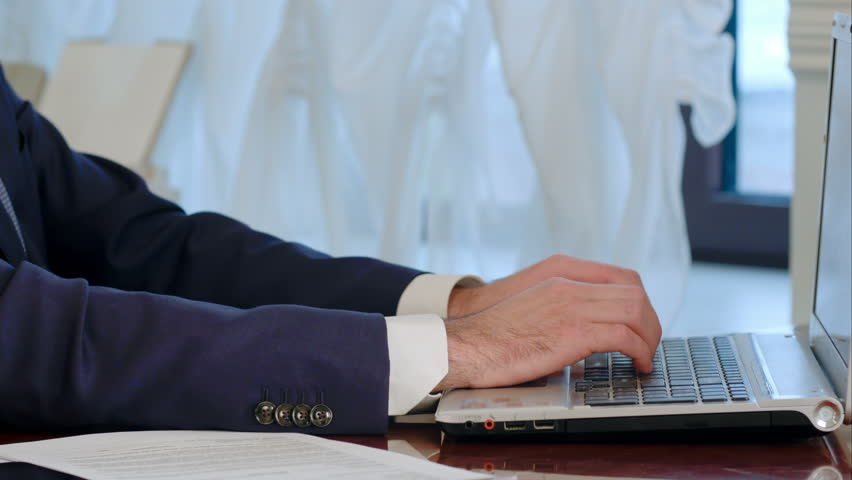 Businessman is typing on laptop computer | Shutterstock HD Video #24606851