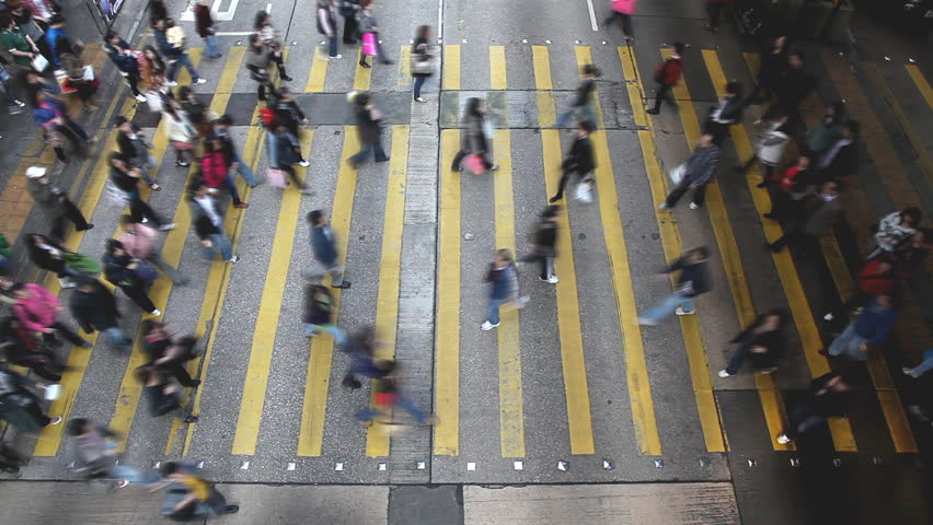 Hong Kong busy street crossing | Shutterstock HD Video #2461016