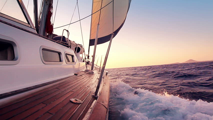 Sailing into the sunset | Shutterstock HD Video #2462123