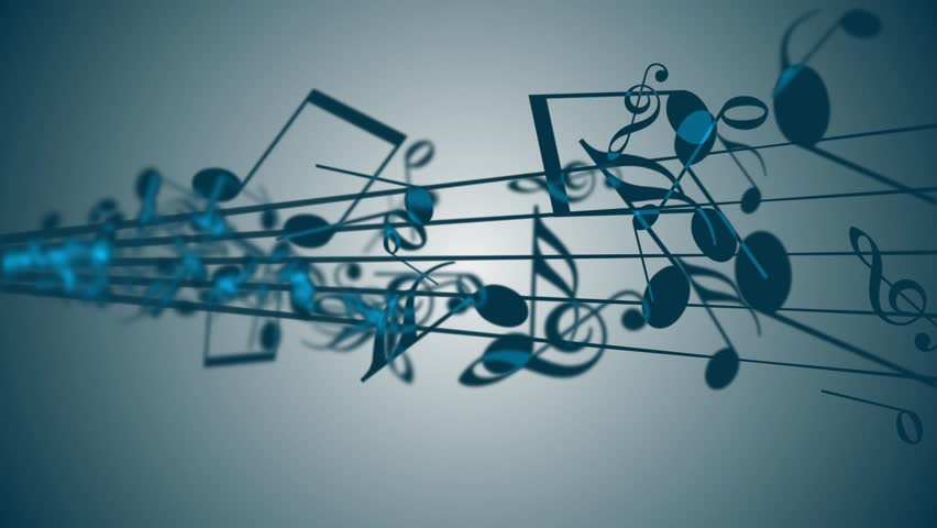 Abstract Background with colorful music notes. looped | Shutterstock HD Video #24623291