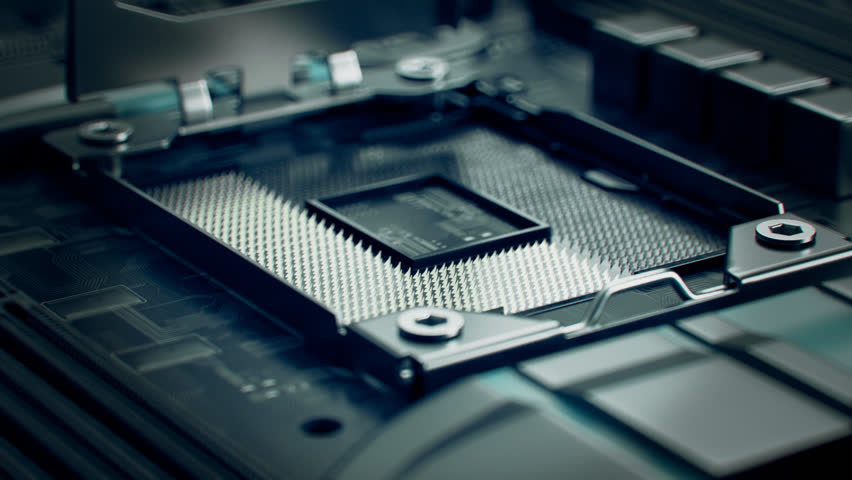 02650 The Camera Pans Over The Computer Motherboard Royalty-Free Stock Footage #24637931