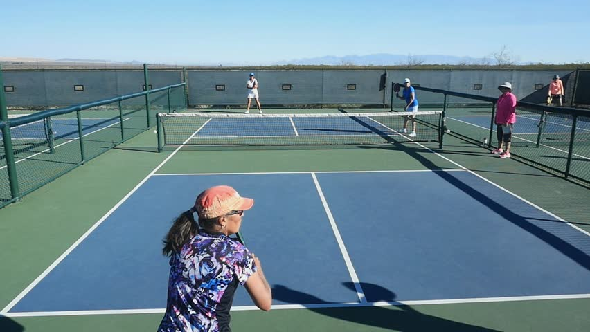 GREEN VALLEY, AZ, USA - 03/10/2017 - Woman's pickleball playoffs in the Senior Olympics
