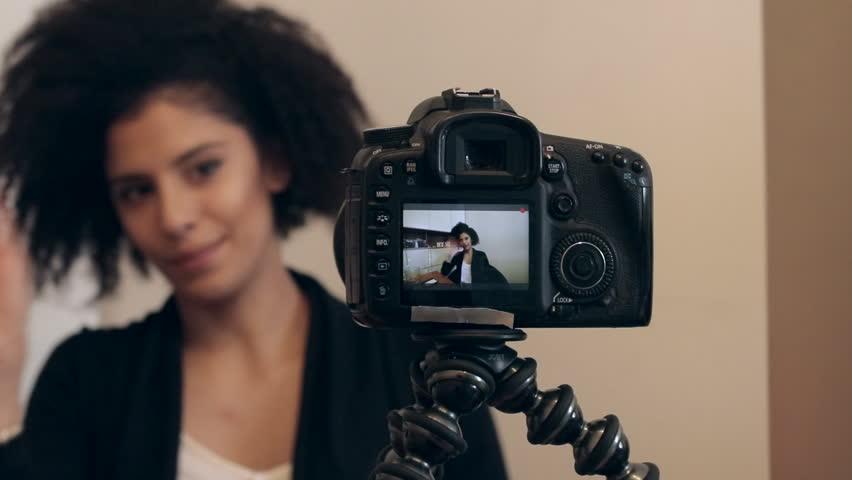 Influencer shooting video blog or KOL vlog | Shutterstock HD Video #24758267