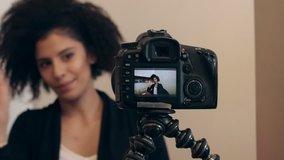 Influencer shooting video blog or KOL vlog