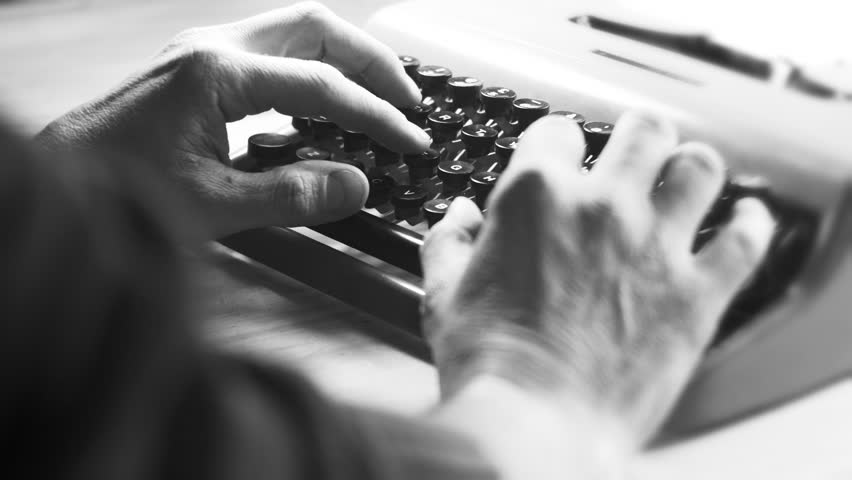 Typing on a vintage typewriter machine. Writing a love letter by the window, 4K. | Shutterstock HD Video #24760592