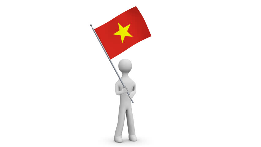 Vietnam Waving Flag 3d Man Stock Footage Video 100 Royalty Free 24762791 Shutterstock