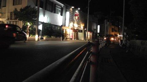 Okinawa Islands Street at Night April 2012