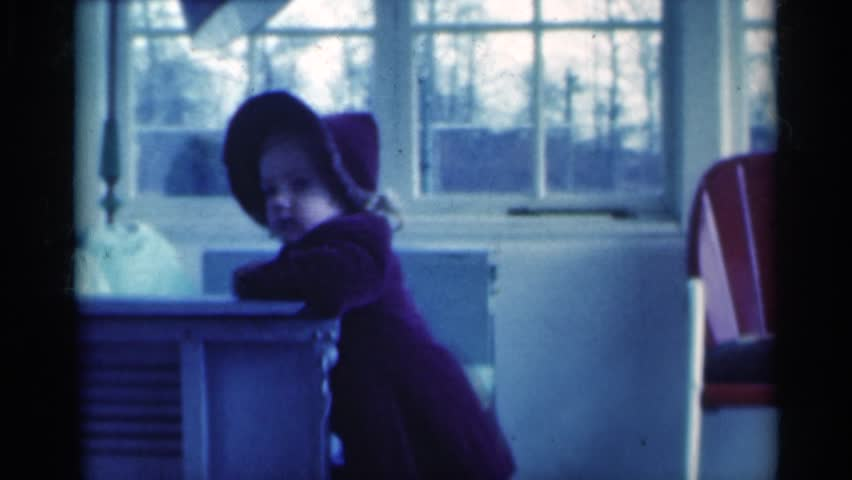 MICHIGAN 1939: kid playing and enjoying in her home | Shutterstock HD Video #24781634