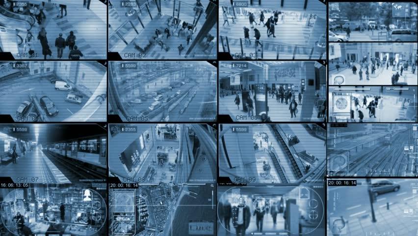 Cctv camera watching people | Shutterstock HD Video #24798314