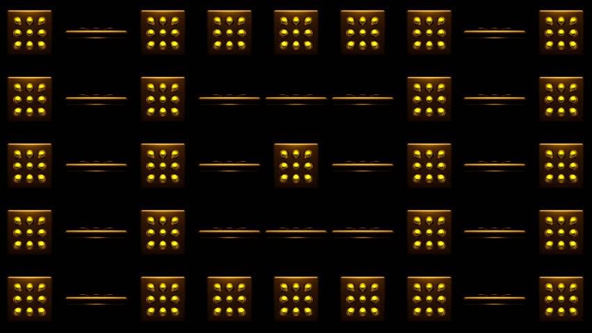 Spinning Golden Yellow Dot VJ   Shutterstock HD Video #24809579
