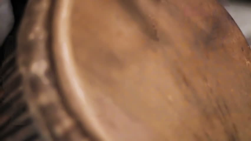 Man hits the drum with his hands close-up | Shutterstock HD Video #24834302