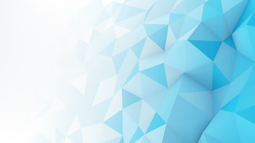 Blue white gradient polygonal surface. Computer generated seamless loop abstract motion background. Smooth 3D animation 4k UHD (3840x2160)
