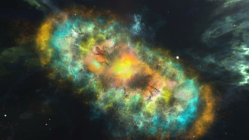 3d computer graphics of Abstract colorful nebula and starry sky in outer space #24859457