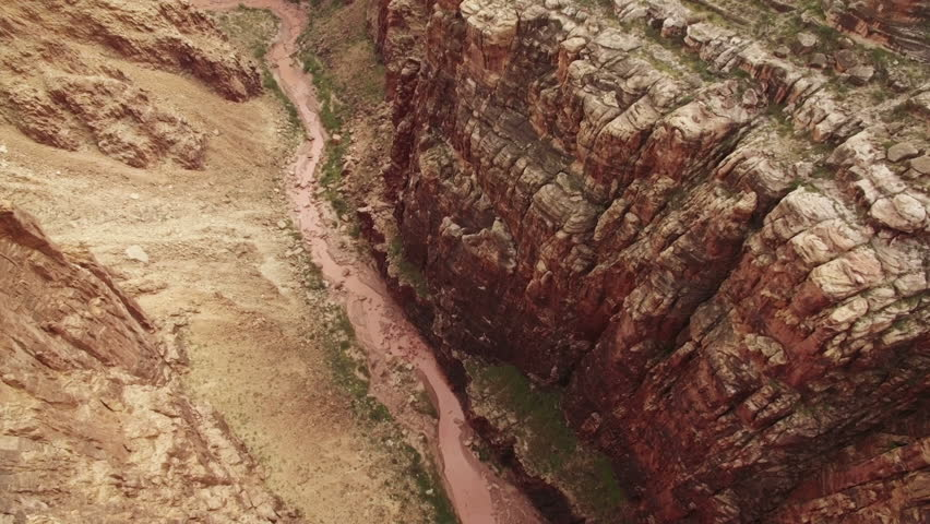 Grand Canyon Aerial Filmed in Navajo Nation outside of National Park