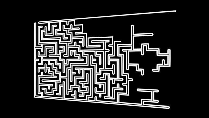 Gradually emerging labyrinth on a black background | Shutterstock HD Video #24896402