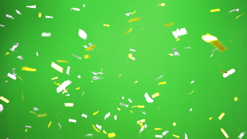 Real Confetti falling  soft and beautiful in the colors blue and pink with  Green screen for party and celebrations | Shutterstock HD Video #24916778