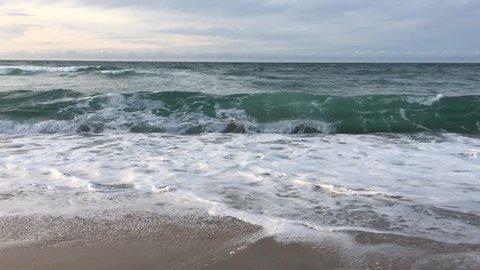 Wavy Mediterranean sea in Skikda Algeria