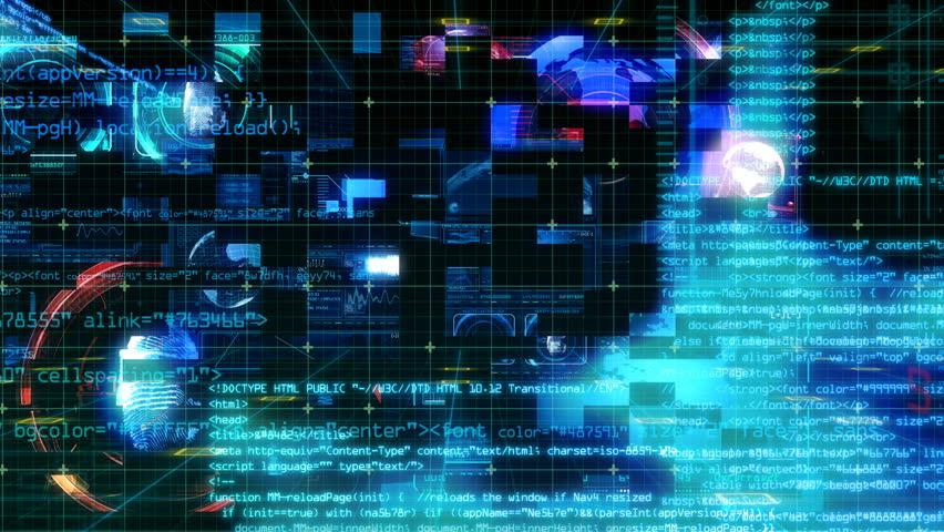 Technology Interface Computer Data Digital Screen | Shutterstock HD Video #24941378
