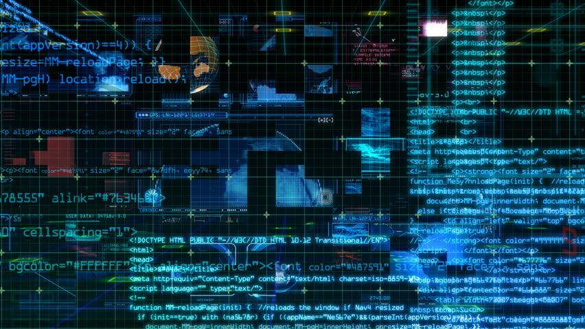 Technology Interface Computer Data Digital Screen | Shutterstock HD Video #24941402