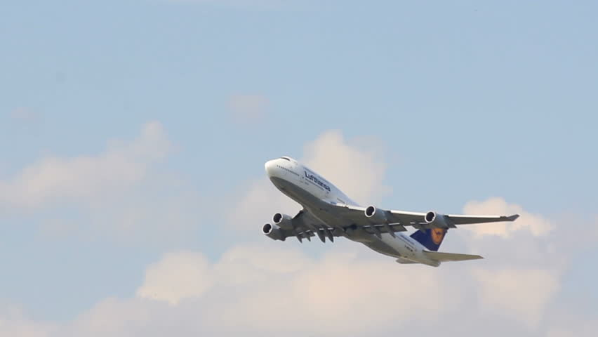 FRANKFURT - JULY 4: Lufthansa Boeing 747 airplane takes off from Frankfurt Airport on July 4, 2011 in Frankfurt, Germany.