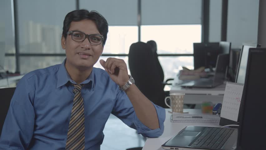 Funny Guy in the office falls down from the chair   Shutterstock HD Video #25011953