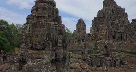 Aerial Angkor Wat Temple Bayron