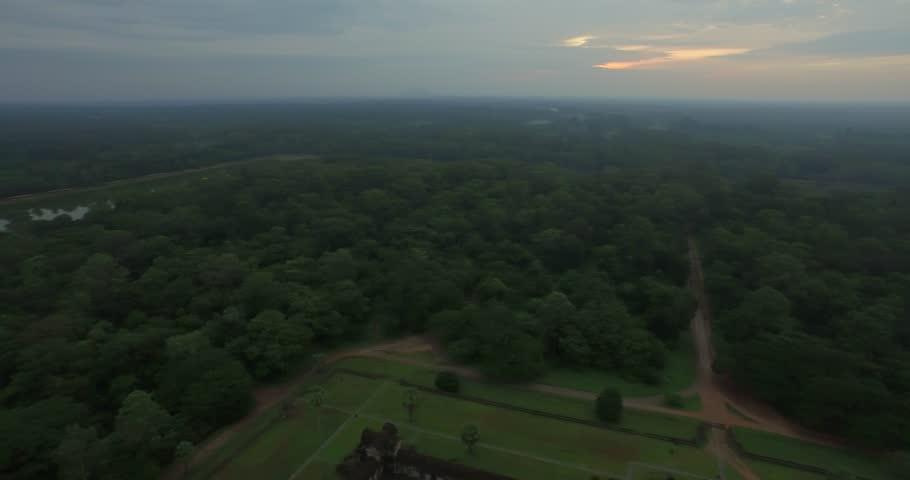 Aerial Angkor Wat Temple