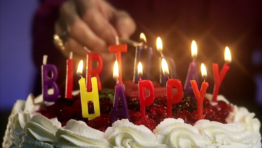 Pleasant Burning Candles On A Birthday Stock Footage Video 100 Royalty Personalised Birthday Cards Beptaeletsinfo