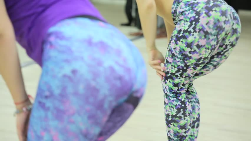 Girl in yoga pants twerking The Girl Is Training To Stock Footage Video 100 Royalty Free 25061279 Shutterstock