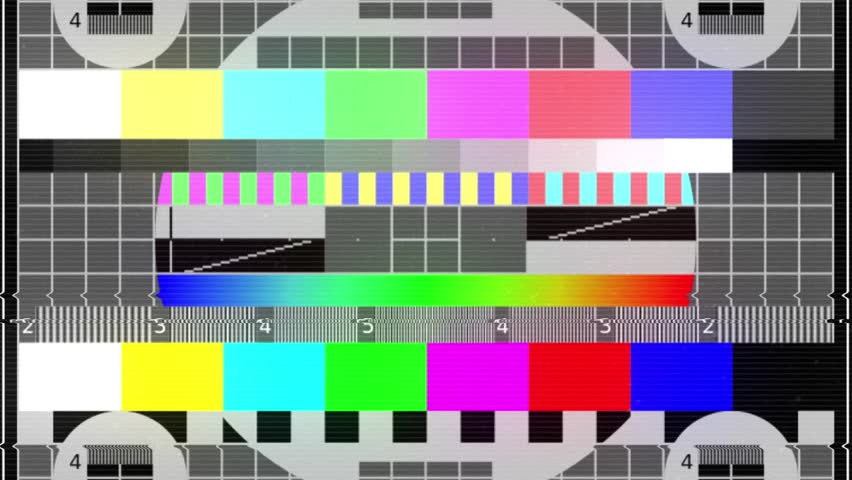 TV tuning table, tv no signal screen, noise background with colorful stripes, rounds and color sample, glitch effect and noise static television. Full hd 1080p VFX loop video effect 10 seconds. | Shutterstock HD Video #25061705