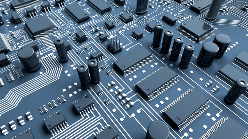 Abstract circuit board. High Technology 3d animation.   Shutterstock HD Video #2507066