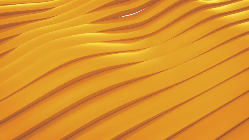 3D animation of yellow surface made of waving lines, loopable abstract motion background   Shutterstock HD Video #25078082
