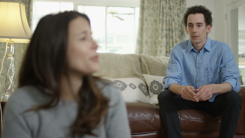 4K Couple with relationship problems having emotional conversation at home | Shutterstock HD Video #25123880