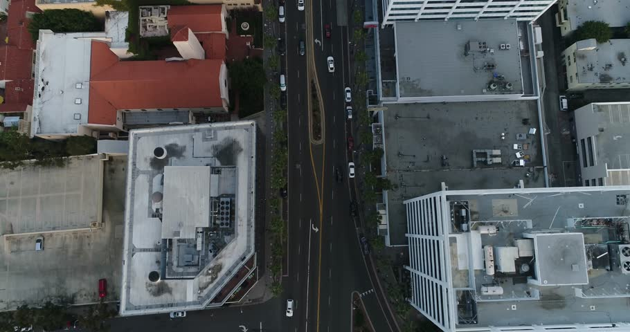 Hollywood, drone, aerial view from above / Slow motion 4k / Los Angeles / 03.17.2017 | Shutterstock HD Video #25144607