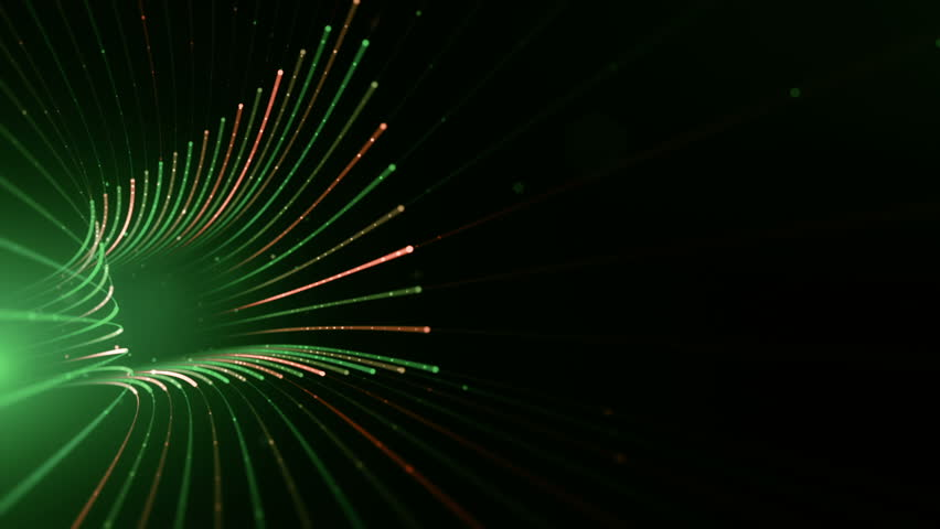 Abstract background with animation moving of lines for fiber optic network. Magic flickering dots or glowing flying lines. Animation of seamless loop. #25151165