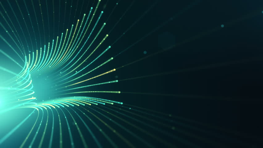 Abstract background with animation moving of lines for fiber optic network. Magic flickering dots or glowing flying lines. Animation of seamless loop. #25151735
