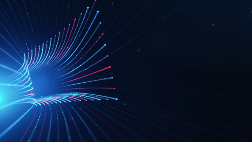 Abstract background with animation moving of lines for fiber optic network. Magic flickering dots or glowing flying lines. Animation of seamless loop. | Shutterstock HD Video #25152503