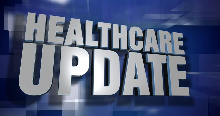 A blue dynamic 3D Healthcare Update transition and title page animation. 5 and 2 second options included with optional luma matte for both.  | Shutterstock HD Video #25155338